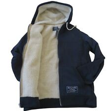 ABERCROMBIE & FITCH Men's  Sherpa-Lined Hoodie Jacket size: M