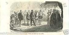 Paix de Vervins 1598 Henri IV France Philip II Spain Felipe GRAVURE PRINT 1862