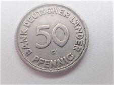 50 Pfennig Bank Deutscher Länder 1949 G Deutschland Germany Coin