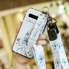 For Samsung Note 10 Plus/S10/S9/S8 Leather Diamond Handle Strap Stand Case Cover