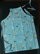 NWT Cath Kidston Blue Park Wildlife Cotton Duck Washable Apron Adjustable Strap
