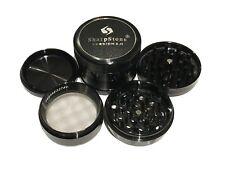 """SharpStone 2.5"""" Inch Version 2.0 Hard Top Herb Spice Large Black Grinder EXTRAS"""