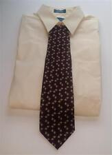 Hathaway Designer Men's Wine Colored Neck Tie Made In U.S.A. All Silk Tie