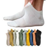 Men Women Ankle Socks Low Cut Crew Casual Breathable Sports Cotton Blend Socks