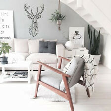 Geometry Carved Deer Wall Sticker Removable PVC Decals Home Decor DIY