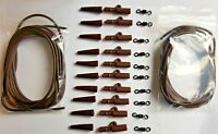 Carp Fishing End Tackle 32pc BROWN carp weight lead clips Matt Black swivels