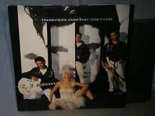 """TRANSVISION VAMP - BABY I DON'T CARE / SEX KICK / TIME FOR A CHANGE 12"""" VINYL"""