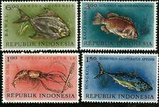 1963 Marine Life Fish Lobster Pompano Tuna Indonesia Mint Stamps