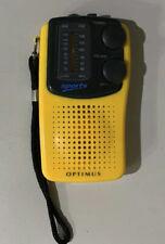 Optimus Sports AM/FM Stereo Player Handheld Portable Radio