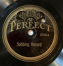 Perfect 78 RPM 12115 SOBBING RECORD & CONTAGIOUS COUGHS