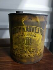 Vintage Standard Oil Co. Ruddy Harvester Farm Machinery Oil Can, One Gallon