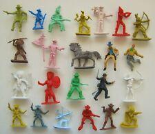 Lote Mixto Paquete Figura Soldado de juguete plástico vaquero indio algunos Vintage