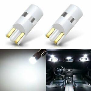 JDM ASTAR 2x White T10 Wedge 3030 SMD LED License Plate Light Bulb 194 168 2825