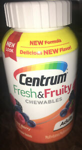 CENTRUM FRESH & FRUITY CHEWABLE MULTIVITAMIN MIXED BERRY (90 TABLETS)