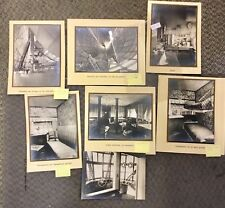 {BJSTAMPS}  ZEPPELIN 1930 7 real photos Interior spaces, cabin, skeleton, rooms