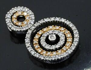 18K 2-tone gold amazing elegant .80CTW VS/G diamond multi-circle pendant
