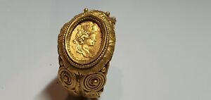0738. Roman Gold Ring with Geta as Caesar Image 2nd century AD