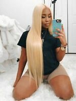 #613 Blonde 1/3 Bundles Brazilian Straight Hair 100% Human Hair Extensions Wefts
