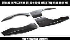 Subaru Impreza WRX STI 00-08 Wide Body Kit Style Wheel Arches Extensions 6 PCS