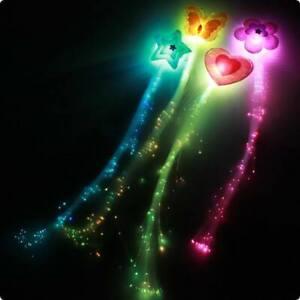 LED-Haarschmuck Leuchtende Haarsträhne LED-Haarspange Glasfaser Haar Schmuck led