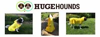 HugeHounds Extra Large Raincoat For Large Dogs- amazing coats- USA company $45