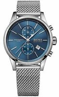 Hugo Boss HB1513441 Jet Blue Men's Watch Analogue Quartz Stainless Steel Silver