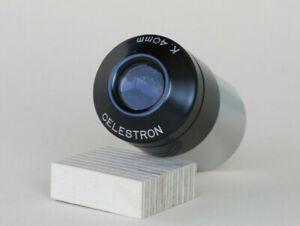 "CELESTRON Vintage Eyepiece Okular Kellner K.40mm Circle T Volcano Top 1.25"""
