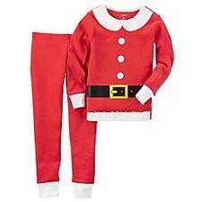 Carter's Red Christmas Santa Claus Pajamas Sleepwear Infant Baby Girl 18 Months