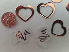 6 x 14g PACKS ROSE GOLD  Mr & Mrs  TABLE CONFETTI WEDDING PARTY DECORATION