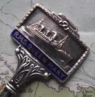 Old White Star Line Enamel Finial Spoon RMS Queen Mary