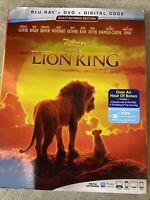 The Lion King Disney (Blu-ray + DVD + Digital Code, 2019) - NEW w/ Slipcover