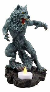 Gothic Werewolf Tea Light Candle Holder Statue Lycan Beast Wolf Man Figurine