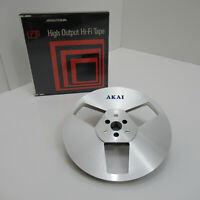 "AKAI ATR-7M Metal Reel 7"" Reel to Reel Tape Reel Recording Tape 7 inch 18cm + C"