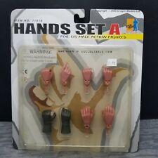 "Dragon Models #71016 ""Hands set A� for 1:6 Male Action Figures, Sealed, Mint"