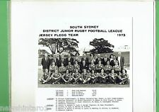 #T105.  SOUTH SYDNEY JUNIOR RUGBY LEAGUE PHOTO - 1973 JERSEY  FLEGG  TEAM