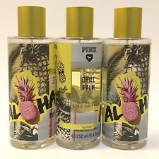 NEW 3 VICTORIA'S SECRET PINK ALOHA CHILL PALM FRAGRANCE MIST BODY SPRAY 8.4 OZ