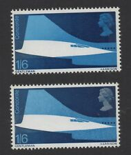 1969 Concorde. SG786a. 1s 6d silver-grey omitted error. Fine unmounted mint.