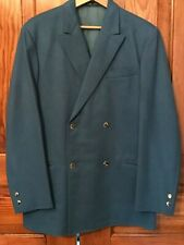 Awesome 1960s Custom Tailored Cadet Blue Felted Wool Sport Coat Bill Lee Db 38
