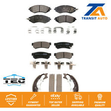 Front Rear Ceramic Brake Pads And Parking Shoes Kit For 2015 Chevrolet Spark