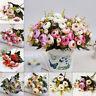 10 Heads Artificial Silk Camellia Flowers Hydrangea Party Wedding Decor Home