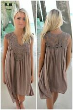 US Plus Size Lady Boho Sleeveless Party Tops Women Loose Summer Beach Lace Dress