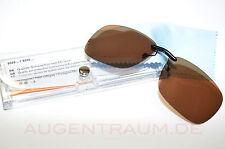 Sonnenclip Brillenclip Vorhänger braun für Switch it Clip On Neu inkl. Etui