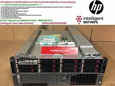 HP DL380 G5 2x E5440 16GB Server With 5.4TB 15K 4Gbit Fibre Channel Storage