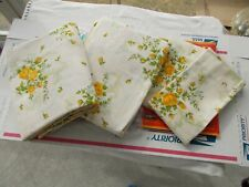 VINTAGE STATEPRIDE CARMEN YELLOW ROSES Bed Sheets Size Full Flat & Fitted SET