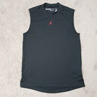 Nike Air Jordan Sleeveless Muscle Tank Shirt Black Basketball Size Small Jumpman