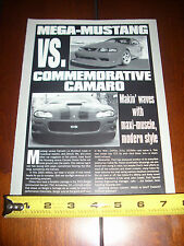 2000 COBRA R MUSTANG vs. 2000 BERGER CAMARO SS - ORIGINAL ARTICLE