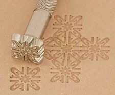 Craftool Leather/Clay Embossing Stamp -K140 Floral Background (66140-00)