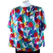 CHAUS WOMAN Plus Size Blouse 2X 22W Short Sleeve Casual Pleated Top