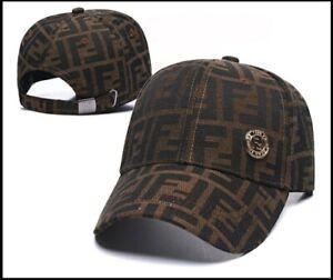 Original Baseball Cap Hat Fendi Dark Brown men women