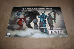 SDCC 2017 DC DARK KNIGHTS METAL THE DARK KNIGHTS RISE! POSTER